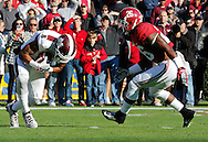 Nov 15, 2014; Tuscaloosa, AL, USA; Alabama Crimson Tide defensive back Landon Collins (26) closes in on Mississippi State Bulldogs wide receiver Fred Ross (8) as he receives a punt<br /> at Bryant-Denny Stadium. Mandatory Credit: Marvin Gentry