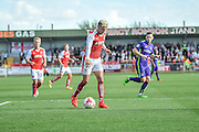 Fleetwood Town striker David Bell (10) on the attack during the EFL Sky Bet League 1 match between Fleetwood Town and Charlton Athletic at the Highbury Stadium, Fleetwood, England on 10 September 2016. Photo by John Marfleet.