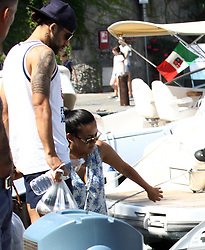 Swiss player Ricardo Rodriguez of Milan AC enjoying holidays in Portofino with wife and german colleague Hakan Calhanoglu. 06 Aug 2017 Pictured: Ricardo Rodriguez. Photo credit: Ceres / MEGA TheMegaAgency.com +1 888 505 6342