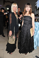 Left to right, VIRGINIA BATES and her daughter DAISY VENVILLE at the English National Ballet Summer Party held at The Orangery, Kensington Palace, London on 27th June 2012.