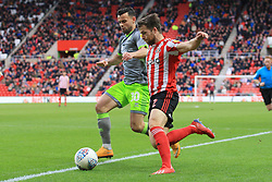 March 16, 2019 - Sunderland, Tyne and Wear, United Kingdom - Sunderland's Adam Matthews contests for the ball with Walsall's Zeli Ismail during the Sky Bet League 1 match between Sunderland and Walsall at the Stadium Of Light, Sunderland on Saturday 16th March 2019. (Credit: Steven Hadlow | MI News) (Credit Image: © Mi News/NurPhoto via ZUMA Press)