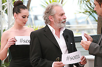 Melisa Sözen and Haluk Bilginer and Nuri Bilge Ceylan at the photocall for the film Winter Sleep (Palme d'Or winner) at the 67th Cannes Film Festival, Friday 16th May 2014, Cannes, France