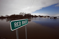 March 24, 2019 - U.S. - The Red River had flooded around Fargo in 49 of the past 112 years. (Credit Image: © Brian Peterson/Star Tribune/Minneapolis Star Tribune via ZUMA Wire)