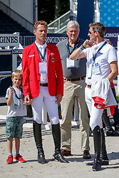 AHLMANN Christian (GER), RÜPING Dr. Michael (GER), DEUSSER Daniel (GER)<br /> Rotterdam - Europameisterschaft Dressur, Springen und Para-Dressur 2019<br /> Parcoursbesichtigung<br /> Longines FEI Jumping European Championship part 2 - team 2nd and final round<br /> Finale Teamwertung 2. Runde<br /> 24. August 2019<br /> © www.sportfotos-lafrentz.de/Stefan Lafrentz