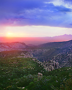 0103-1021 ~ Copyright:  George H. H. Huey ~ Sunset from the Sugarloaf Lookout Trail.  Chiricahua National Monument, Arizona.