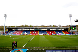 Bristol City players take a walk around the pitch on arrival at Ewood Park  - Mandatory by-line: Matt McNulty/JMP - 17/04/2017 - FOOTBALL - Ewood Park - Blackburn, England - Blackburn Rovers v Bristol City - Sky Bet Championship