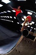 Robert Jaye skating on a ramp, UK, 2000's