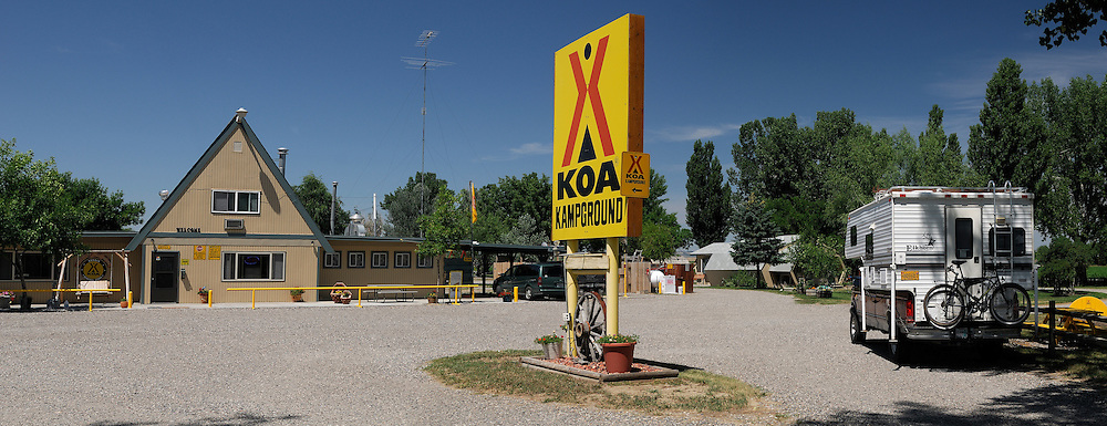 Panorama, KOA Campground, Hardin,  Montana, USA