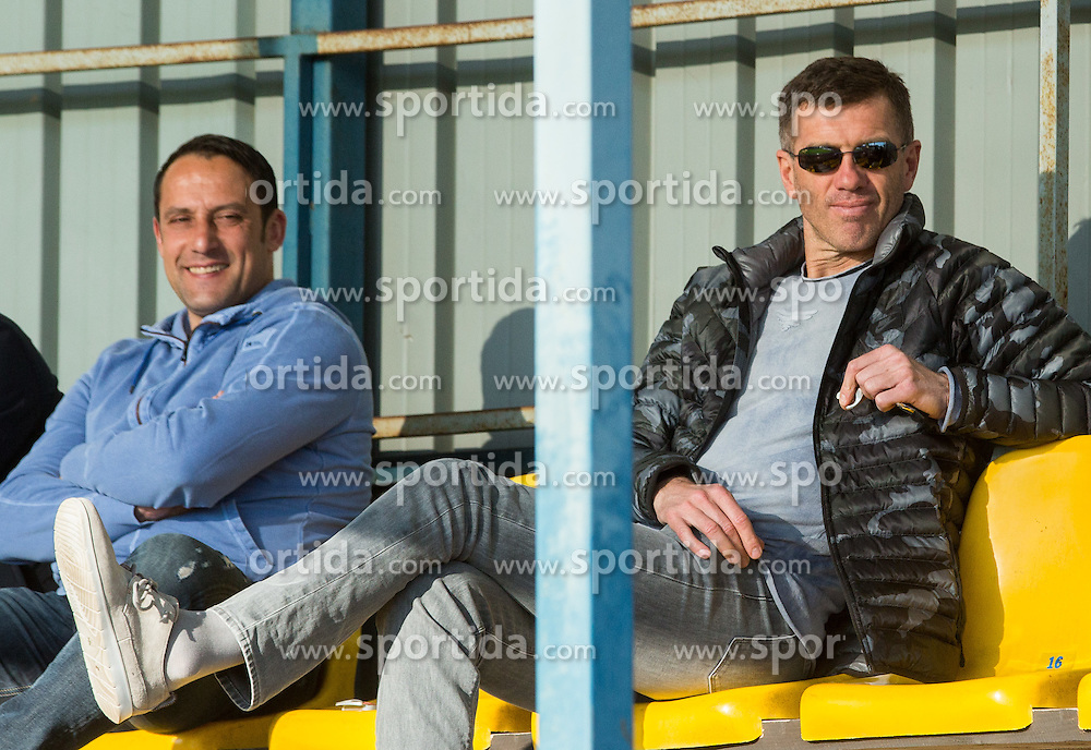 Ales Ceh and Srecko Katanec during 2nd Leg football match between NK Domzale and NK Celje in Semifinal of Slovenian Cup 2015/16, on April 20, 2016 in Sports park Domzale, Slovenia. Photo by Vid Ponikvar / Sportida