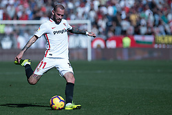 January 26, 2019 - Sevilla, Andalucia, Spain - Aleix Vidal of Sevilla FC kick the ball during the La Liga match between Sevilla FC v Levante UD at the Ramon Sanchez Pizjuan Stadium on January 26, 2019 in Sevilla, Spain  (Credit Image: © Javier MontañO/Pacific Press via ZUMA Wire)