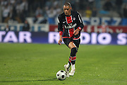 PSG player and goal scorer Guillaume Hoarau during French First League Soccer match, Olympique Marseille vs Paris Saint-Germain at the Stade Velodrome in Marseille, France on October 26, 2008. PSG won 4-2. Photo by Stuart Morton/Cameleon/ABACAPRESS.COM