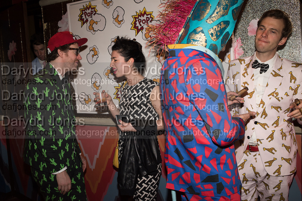PHILIP COLBERT; MILA ASKAROVA; GIANNI GIRAFFE; GARRET MOORE, , Gazelli host The Colbert Art Party last night at  LouLou's, The Bauer in Venice, Venice Biennale, Venice. 7 May 2015