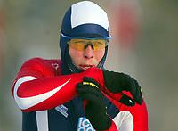 Skøyter, 22. desember 2002. NM enkeltdistanser. Eskil Ervik