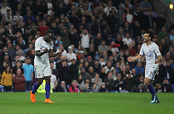 Victor Moses of Chelsea (L) celebrates scoring his sides second goal - Mandatory by-line: Jack Phillips/JMP - 19/04/2018 - FOOTBALL - Turf Moor - Burnley, England - Burnley v Chelsea - English Premier League