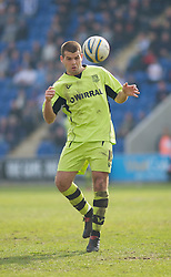 COLCHESTER, ENGLAND - Saturday, April 24, 2010: Tranmere Rovers' John Welsh in action during the Football League One match at the Western Community Stadium. (Photo by Gareth Davies/Propaganda)