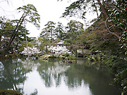 Japan, Ishikawa Prefecture, Kanazawa, Kenroku-en Garden (known as one of the three most beautiful gardens in Japan)