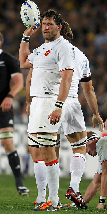 AUCKLAND, NEW ZEALAND - OCTOBER 23, French players during the 2011 IRB Rugby World Cup final match between New Zealand and France at Eden Park on October 23, 2011 in Auckland, New Zealand<br /> Photo by Steve Haag PHOTOSPORT