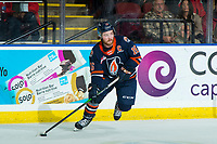 KELOWNA, BC - DECEMBER 27:  Zane Franklin #16 of the Kamloops Blazers skates with the puck during first period against the Kelowna Rockets at Prospera Place on December 27, 2019 in Kelowna, Canada. (Photo by Marissa Baecker/Shoot the Breeze)