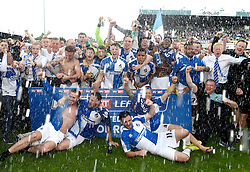 Bristol Rovers players celebrate wining promotion from Sky Bet League 2 up to Sky Bet League 1  - Mandatory by-line: Joe Meredith/JMP - 07/05/2016 - FOOTBALL - Memorial Stadium - Bristol, England - Bristol Rovers v Dagenham and Redbridge - Sky Bet League Two