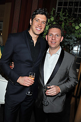 Left to right, VERNON KAY and NICK CANDY at the 39th birthday party for Nick Candy in association with Ciroc Vodka held at 5 Cavindish Square, London on 21st Januatu 2012.
