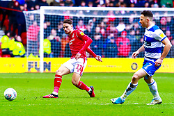 Matty Cash of Nottingham Forest gets the ball downfield - Mandatory by-line: Ryan Crockett/JMP - 22/02/2020 - FOOTBALL - The City Ground - Nottingham, England - Nottingham Forest v Queens Park Rangers - Sky Bet Championship