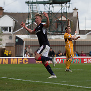 Dundee's Mark O'Hara celebrates - Motherwell v Dundee, Fir Park, Motherwell, Photo: David Young<br /> <br />  - © David Young - www.davidyoungphoto.co.uk - email: davidyoungphoto@gmail.com