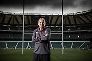 Eddie Jones, England Rugby manager, photogtraphed at Twickenham Stadium.