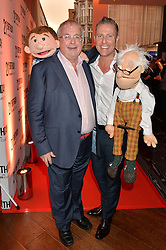 Left to right, CHRISTOPHER BIGGINS and PAUL ZERDIN America's Got Talent winner 2015 at a party to celebrate the 21st anniversary of The Roar Group hosted by Jonathan Shalit held at Avenue, 9 St.James's Street, London on 21st September 2015.