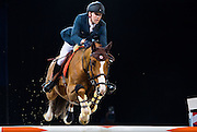 HONG KONG - FEBRUARY 19:  Simon Delestre of France rides Chesall Zimequest during The Hong Kong Jockey Club Trophy as part of the 2016 Longines Masters of Hong Kong on February 19, 2016 in Hong Kong, Hong Kong.  (Photo by Aitor Alcalde Colomer/Getty Images)