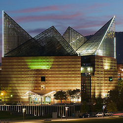 The Tennessee Aquarium is an architectural centerpiece of the city of Chattanooga