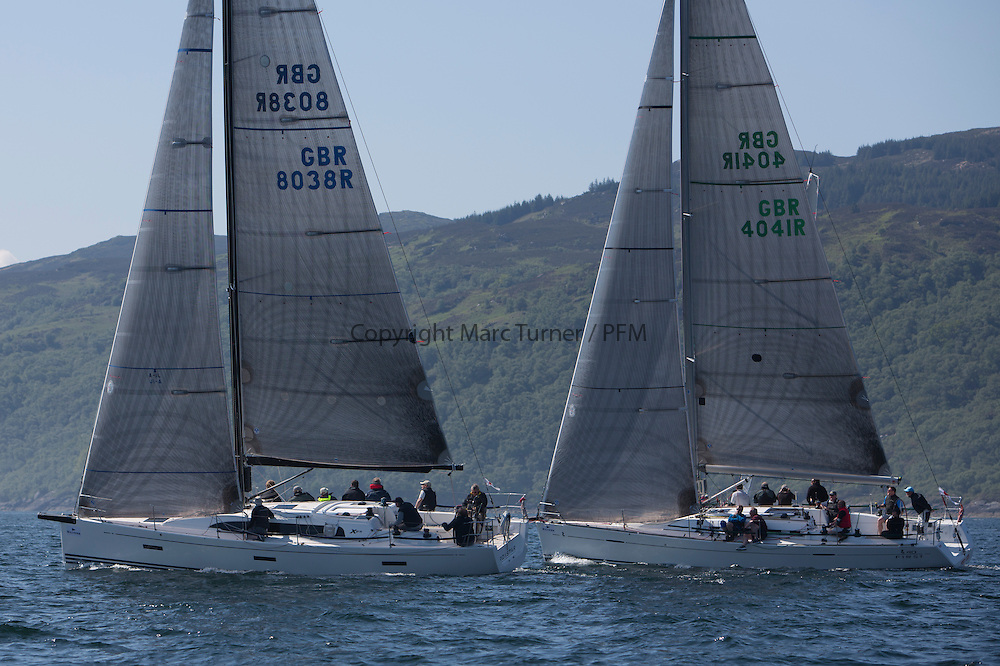 Final days' racing at the Silvers Marine Scottish Series 2016, the largest sailing event in Scotland organised by the  Clyde Cruising Club<br /> <br /> Racing on Loch Fyne from 27th-30th May 2016<br /> <br /> GBR8038R, Roxstar, J Anderson/M Findlay, CCC, XP38i, GBR4041R, Forty Licks, Jay Colville, East Down YC, First 40<br /> <br /> Credit : Marc Turner / CCC<br /> For further information contact<br /> Iain Hurrel<br /> Mobile : 07766 116451<br /> Email : info@marine.blast.com<br /> <br /> For a full list of Silvers Marine Scottish Series sponsors visit http://www.clyde.org/scottish-series/sponsors/