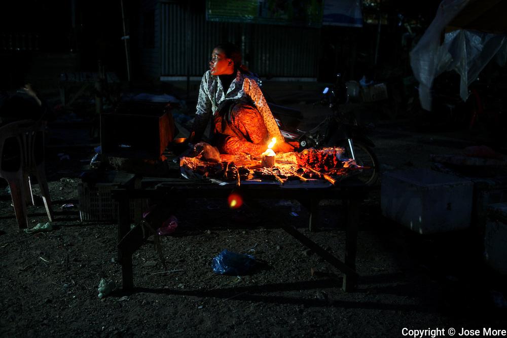 Siem Reap Cambodia: Street food vendor near Phnom Krom temple. Jose More Photography