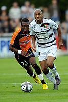 FOOTBALL - FRIENDLY GAMES 2010/2011 - STADE RENNAIS v FC LORIENT - 24/07/2010 - PHOTO PASCAL ALLEE / DPPI - STEPHANE DALMAT (RENNES) / CHEICK DOUCOURE (FCL)