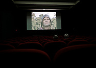 In a small Cinema Saint Andre des Arts theater, an elderly couple watch a preview of Werner Herzog's film Aguirre, the Wrath of God. Paris, 20 April 2018.
