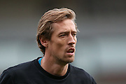 Stoke City forward Peter Crouch  during the The FA Cup third round match between Doncaster Rovers and Stoke City at the Keepmoat Stadium, Doncaster, England on 9 January 2016. Photo by Simon Davies.