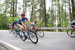 Anna Badegruber (AUT) of Team WNT leans into a corner during the second lap of  the Durango-Durango Emakumeen Saria - a 113 km road race, starting and finishing in Durango on May 16, 2017, in the Basque Country, Spain.