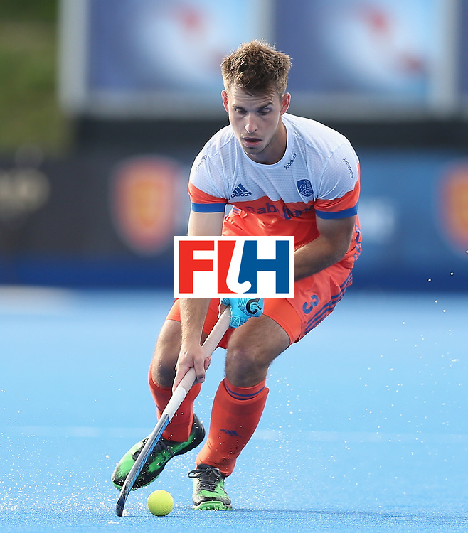 LONDON, ENGLAND - JUNE 15:  Tristan Algera of the Netherlands during the Hero Hockey World League Semi Final match between Netherlands and Pakistan at Lee Valley Hockey and Tennis Centre on June 15, 2017 in London, England.  (Photo by Alex Morton/Getty Images)