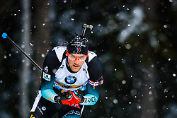 March 16, 2019 - –Stersund, Sweden - 190316 Simon Desthieux of France competes in the Men's 4x7,5 km Relay during the IBU World Championships Biathlon on March 16, 2019 in Östersund..Photo: Johan Axelsson / BILDBYRÃ…N / Cop 245 (Credit Image: © Johan Axelsson/Bildbyran via ZUMA Press)