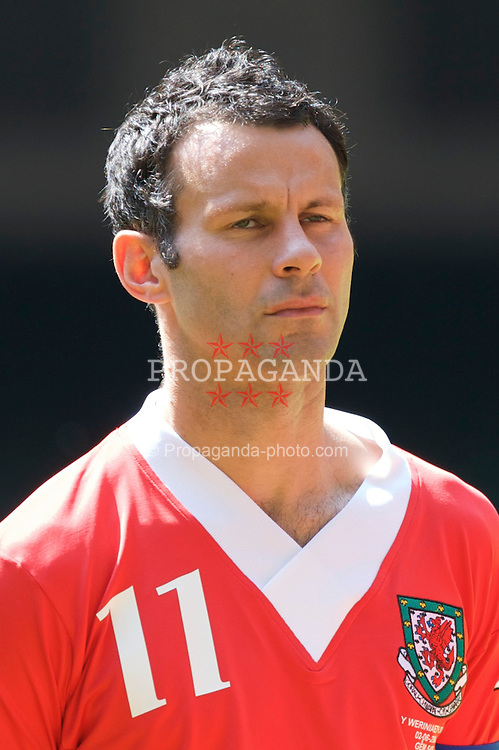 Cardiff, Wales - Saturday, June 2, 2007: Wales' captain Ryan Giggs  makes his 64th and final appearance for Wales during the UEFA Euro 2008 Qualifying Group D match against Czech Republic at the Millennium Stadium. (Pic by David Rawcliffe/Propaganda)