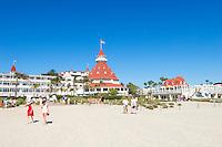 Hotel Del Coronado White Sand Beach, Coronado Island, California