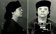Prostitutes And Madams: Mugshots From When Montreal Was Vice Central<br /> <br /> Montreal, Canada, 1949. Le Devoir publishes a series of articles decrying lax policing and the spread of organized crime in the city. Written by campaigning lawyer Pacifique 'Pax' Plante (1907 – 1976) and journalist Gérard Filion, the polemics vow to expose and root out corrupt officials.<br /> <br /> With Jean Drapeau, Plante takes part in the Caron Inquiry, which leads to the arrest of several police officers. Caron JA's Commission of Inquiry into Public Morality began on September 11, 1950, and ended on April 2, 1953, after holding 335 meetings and hearing from 373 witnesses. Several police officers are sent to prison.<br /> <br /> During the sessions, hundreds of documents are filed as evidence, including a large amount of photos of places and people related to vice.  photos of brothels, gambling dens and mugshots of people who ran them, often in cahoots with the cops – prostitutes, madams, pimps, racketeers and gamblers.<br /> <br /> Photo shows: Germaine Giraud, 19 février 1941- arrested in connection with an investigation related to prostitution.<br /> ©Archives de la Ville de Montréal/Exclusivepix Media