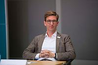 DEU, Deutschland, Germany, Berlin, 30.06.2020: Patrick Siegele, Direktor des Anne Frank Zentrums, bei einer Pressekonferenz anlässlich der Vorstellung des Kompetenznetzwerks Antisemitismus in der Jüdischen Gemeinde zu Berlin.
