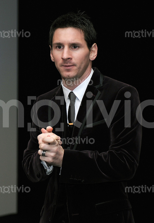 Fussball International  FIFA Ballon d Or / Weltfussballer 2011   09.01.2012 Lionel Messi (Barca)