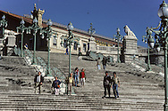 France. Marseille. Second Empire Stairs In The Saint Charles Railway Station  Marseille - France    / Escalier Second Empire De La Gare Saint Charles  Marseille - France