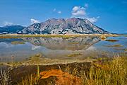Kluane Lake. Ruby Range Mountains<br />Kluane National Park<br />Yukon<br />Canada