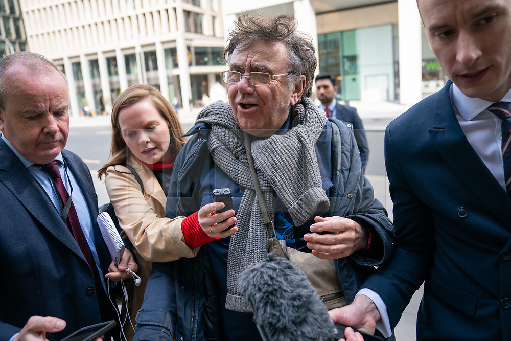 © Licensed to London News Pictures. 30/04/2019. London, UK. Labour Party activist Peter Willsman arrives at Labour Party headquarters for National Executive Meeting at which Labour's position on a second EU vote will be decided. Photo credit : Tom Nicholson/LNP