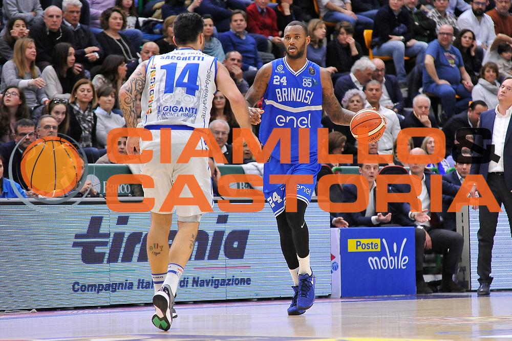 Amath M'Baye<br /> Banco di Sardegna Dinamo Sassari - Enel New Basket Brindisi<br /> LegaBasket Serie A LBA Poste Mobile 2016/2017<br /> Sassari 02/04/2017<br /> Foto Ciamillo-Castoria