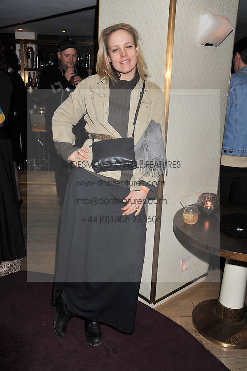 BAY GARNETT at the launch of 'She Died of Beauty' as part of London Fashion Week Autumn/Winter 2012 held at The Club at The Ivy Club, London on 17th February 2012.
