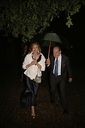 SARAH STANDING AND JOHN STANDING, Cartier dinner in the Chelsea Physic Garden. 22 May 2006. ONE TIME USE ONLY - DO NOT ARCHIVE  © Copyright Photograph by Dafydd Jones 66 Stockwell Park Rd. London SW9 0DA Tel 020 7733 0108 www.dafjones.com