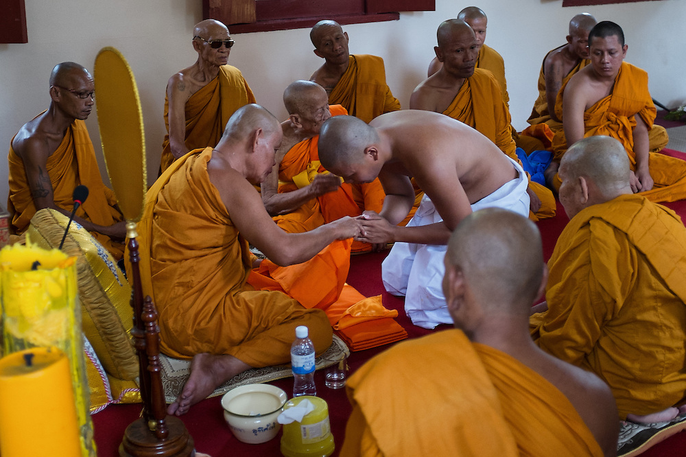 """O"" Voravut Becomes a Monk in Ban Na, Thailand"